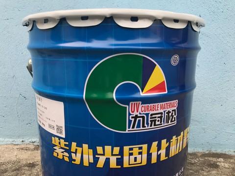 江门UV耐候胶厂家  UV-1203透明腻子  UV玻璃油墨  九冠松