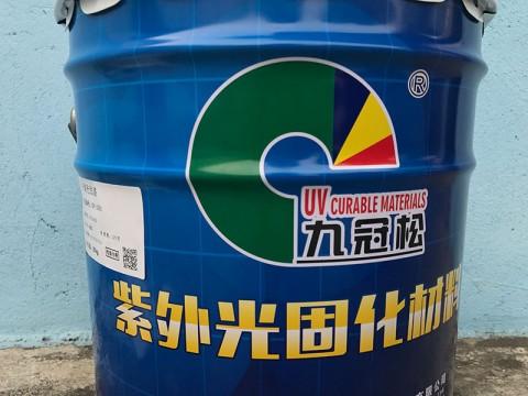 江门UV耐候胶厂家 UV玻璃油墨直销  UV-1501中填充底漆 九冠松