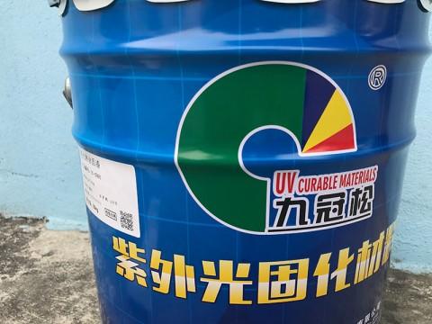 江门UV耐候胶厂家 UV玻璃油墨批发  UV-5990高光淋涂面漆 九冠松
