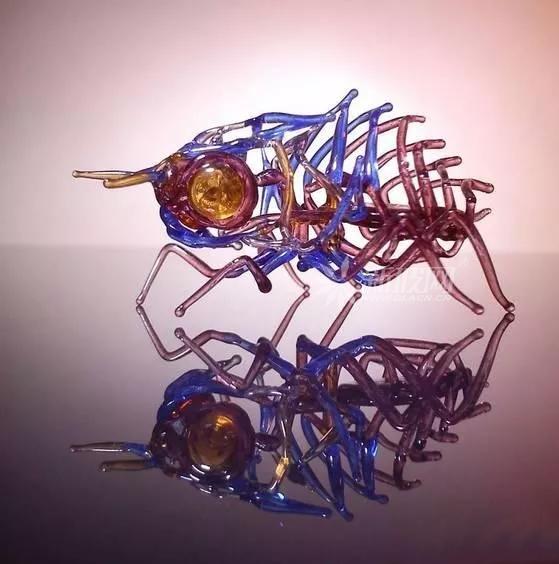 玻璃废料做成的玻璃艺术品也可以这么美