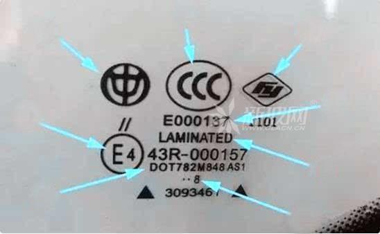 汽车玻璃上的标志都分别表示什么意思?