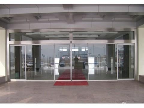 河北滑县玻璃门加工厂家  玻璃门  中耀玻璃