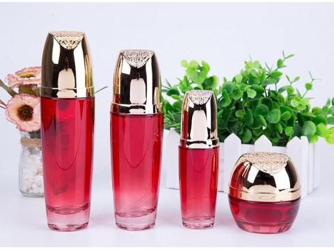 生产高档化妆品瓶子厂家 化妆品瓶子价格   乐鑫玻璃