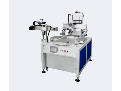 电磁炉面板丝印机亚克力玻璃丝网印刷机PVC镜片全自动转盘印刷